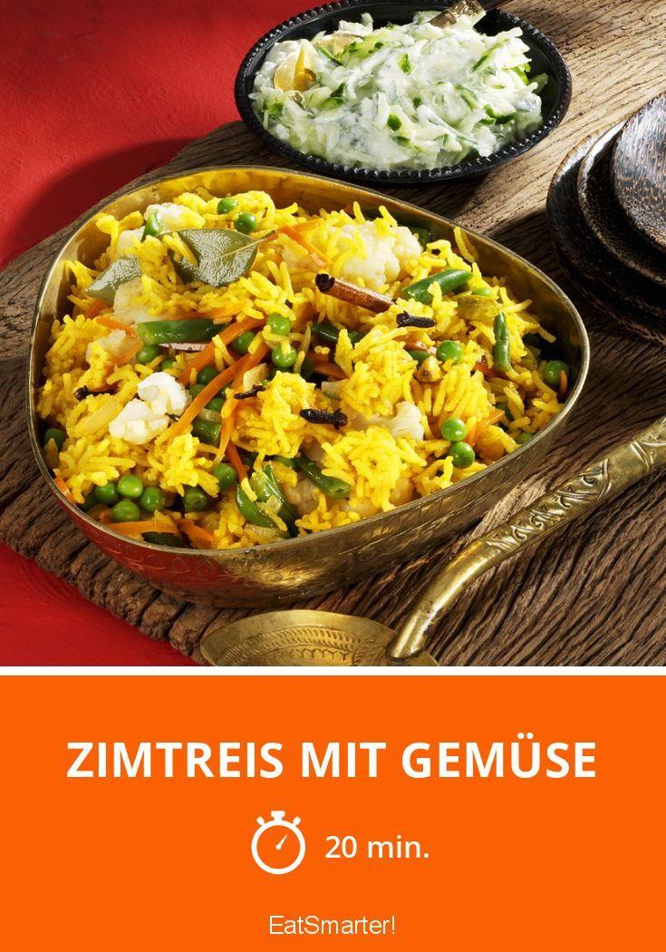 Zimtreis mit Gemüse | http://eatsmarter.de/rezepte/zimtreis-mit-gemuese