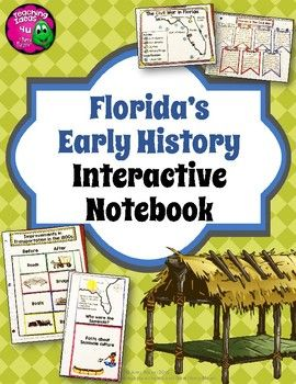 Florida's Early History Interactive Notebook 4th Grade Unit 3