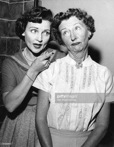 "Betty White with Irene Ryan ( Granny from ""The Beverly Hillbillies "")"