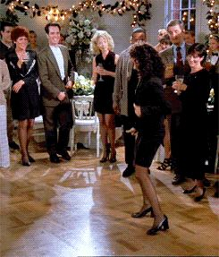 [GIF- click image] The Elaine Dance | Seinfeld
