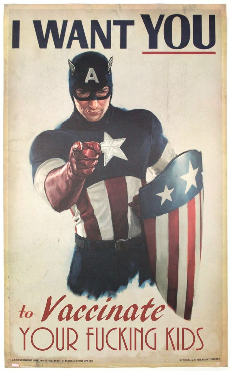 """Captain America: """"I want YOU to vaccinate yourkids"""""""