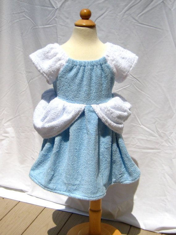 Princess towel coverups for little girls