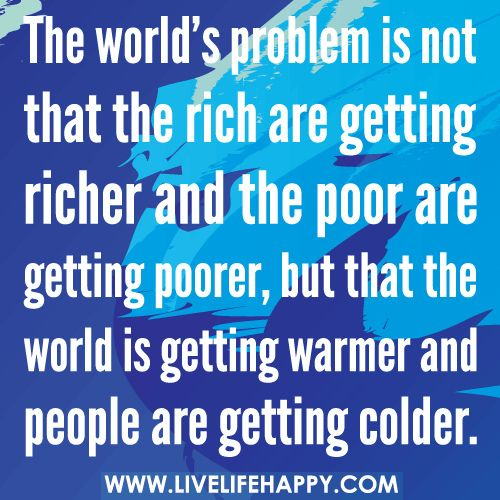 The rich get richer and the poor get poorer