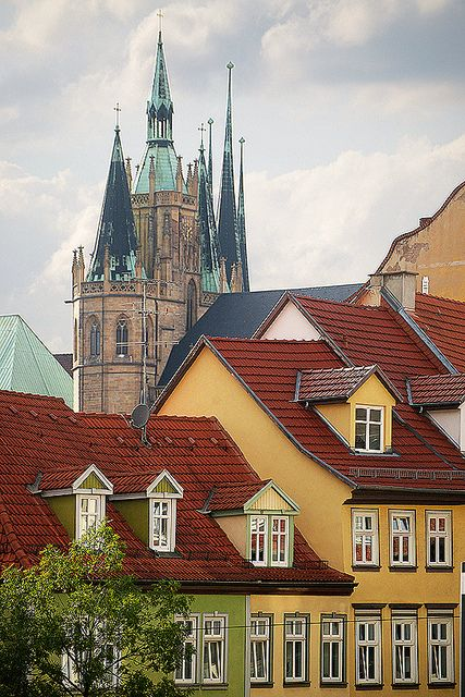 Erfurt, Germany. Our 25 tips for things to do in Germany: http://www.europealacarte.co.uk/blog/2011/11/21/what-to-do-in-germany/
