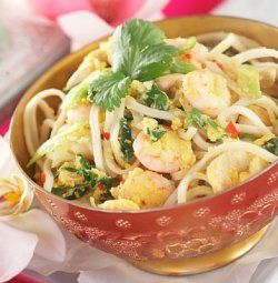 Phat thai (stekte nudler).