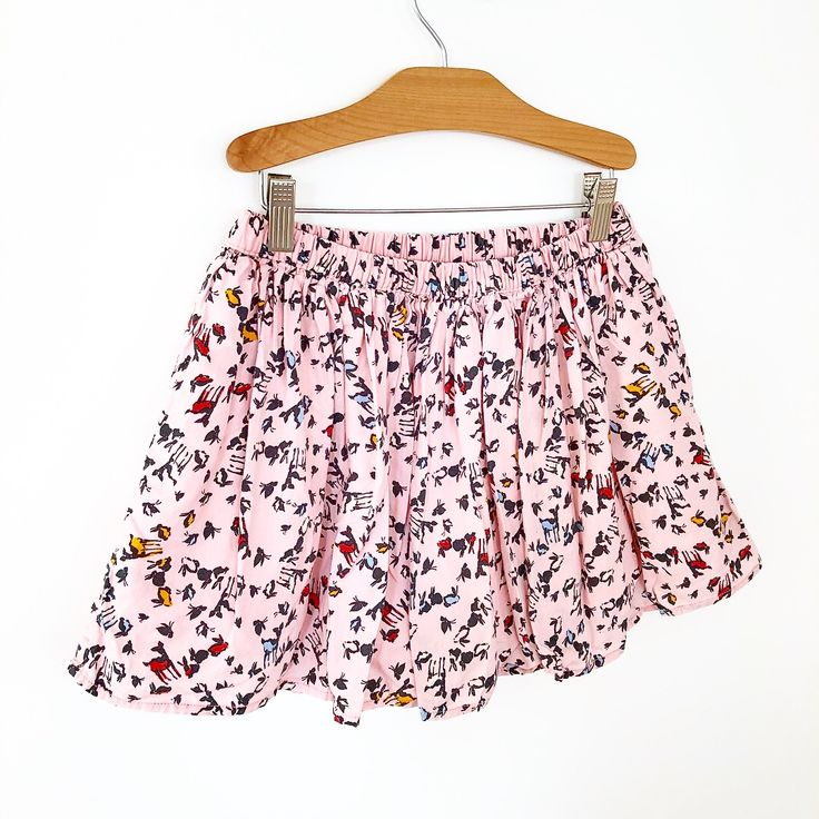 Valentine's Day woodland skirt. 🐇💝Gap Kids, size (L) 10-11, $12.99.  #shopgnomehollow #childrensresale #reusereducerecycle #reuse #sustainableshopping #shopsustainably #shopsmall #gap #gapkids #cotton #cottonkidsclothes #valentinesdaydress #valentines2018 #woodlandanimalprint #valentinesdayskirt #madeinindonesia #valentinesdaykidsfashion