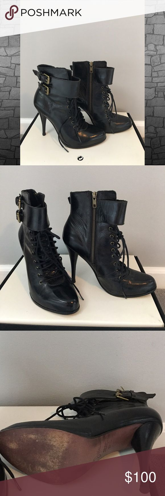 Joie booties Runs small .. worn maybe twice ! Joie Shoes Heeled Boots