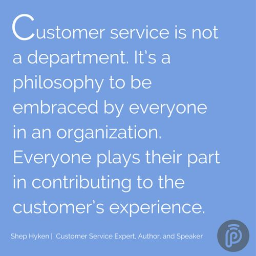 Its A Philosophy To Be Embraced By Everyone In An Organization Plays Their Part Contributing The Customers Experience