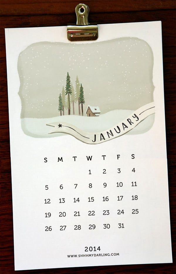 Free printable calendar by ShhhMyDarling www.shhhmydarling.com