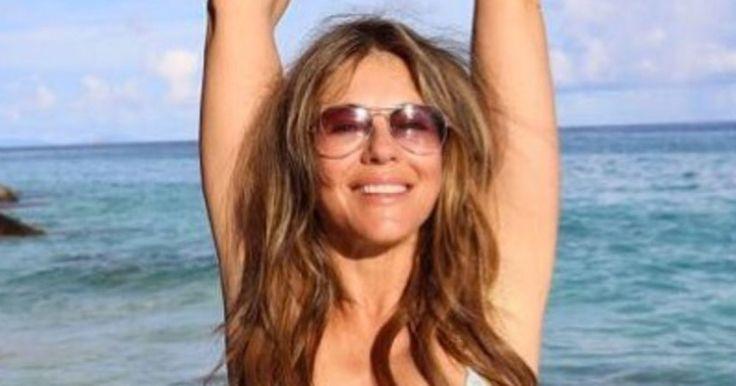 Elizabeth Hurley, 52, Shows Off Her Age-Defying Bikini Body at theBeach