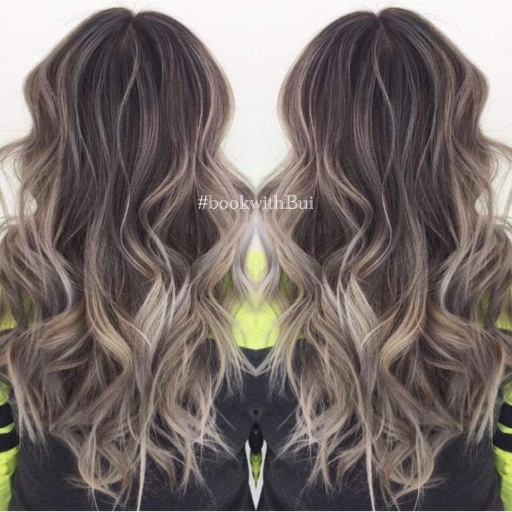 ash blonde balayage on dark hair - Google Search