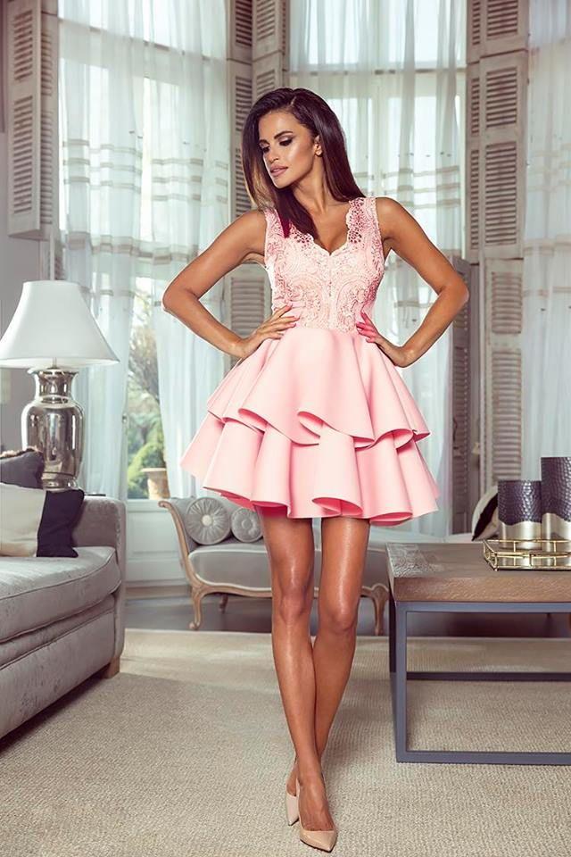 Šaty Anastasia pudrovo-růžové :: ewomen.cz