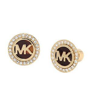 Michael Kors MK Logo Tortoise Stud Earrings | Dillard's Mobile