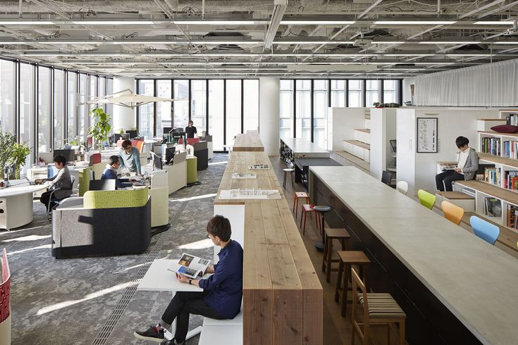 Completed in 2014 in Chuo Ward, Japan. Images by Nacasa & Partners. This is an in-house office plan of our design office. Approximately 30 staff members working in our office, which is located in the central part of...