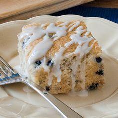 Lemon blueberry coffee cake (using boxed muffin mix)