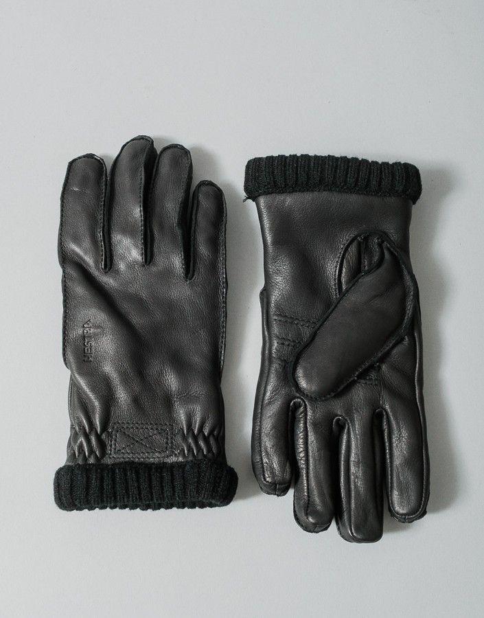 Deerskin Primaloft Rib Glove - Black