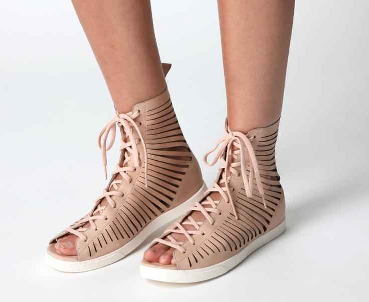 Nike Open Toe Gladiator Sandals - I saw these in black and almost bought them last Friday but didn't like the white sole.
