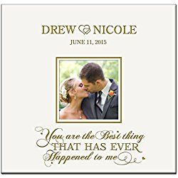 Personalized Mr & Mrs Wedding Anniversary Gifts Photo Album Custom Engraved You Are the Best Thing That Has Ever Happened to Me Holds 200 4x6 Photos Wedding Gift Ideas By Dayspring Milestones