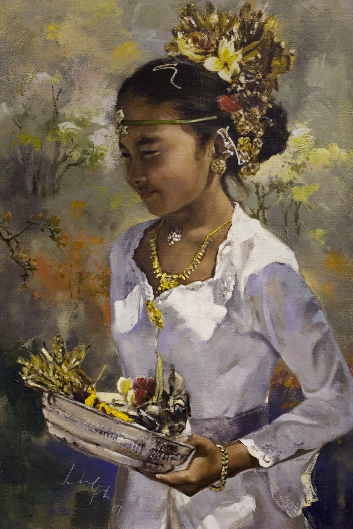 Discovered this wonderful painting on Pinterest. This lady is talented. Love this. Will be following her work. Leslie Goh, Coming of Age, 2007 Oil on canvas