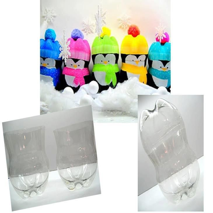 Being Frugal Sally: Recycled 2 liter Bottle Penquin Gift Boxes  These are so CUTE