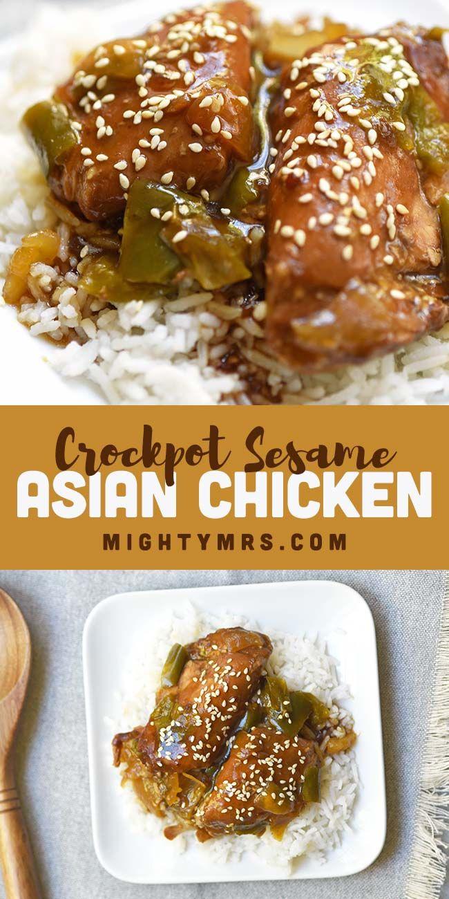 Crockpot Asian Sesame Chicken Thighs Recipe Chicken Dinner Recipes Recipes Dinner
