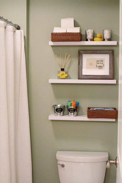 Floating Shelves Above Toilet Bathroom Kitchen Wall