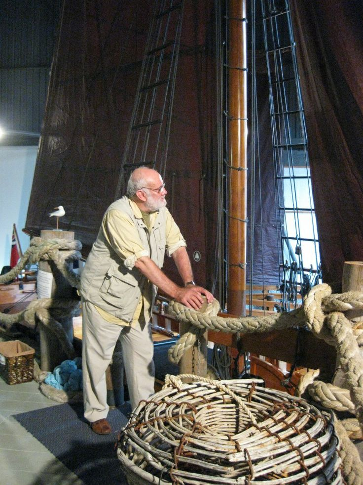 A very fine replica sloop 'Norfolk' housed in the Bass & Flinders Centre in George Town, Tasmania, Australia