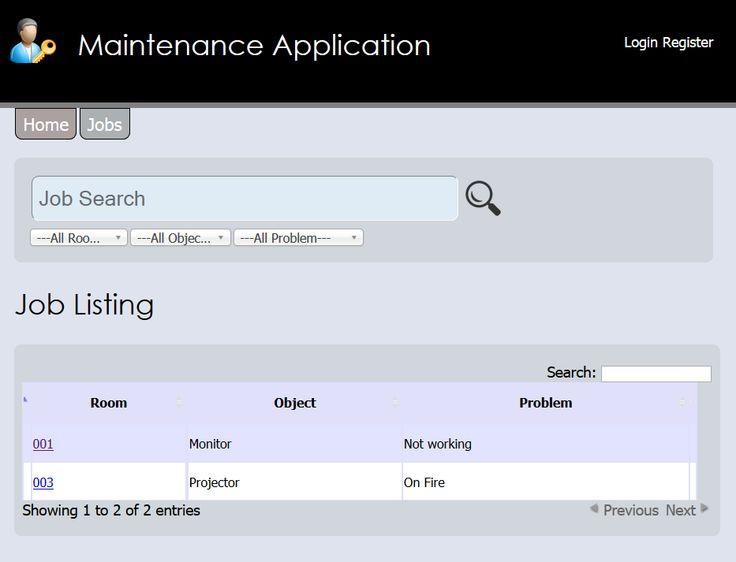 Maintenance Application