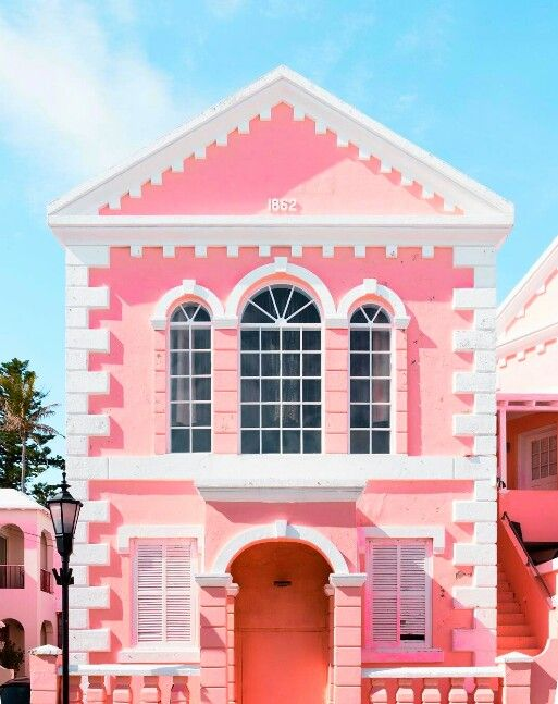 exterior   Pink houses, Pastel aesthetic, Pink aesthetic