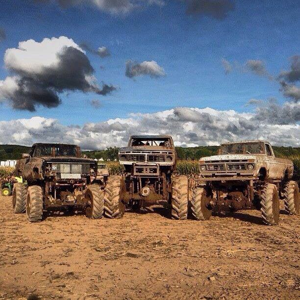 Ford and Chevy Mud Trucks, who cares the Manufacturer as long as it's lifted!!