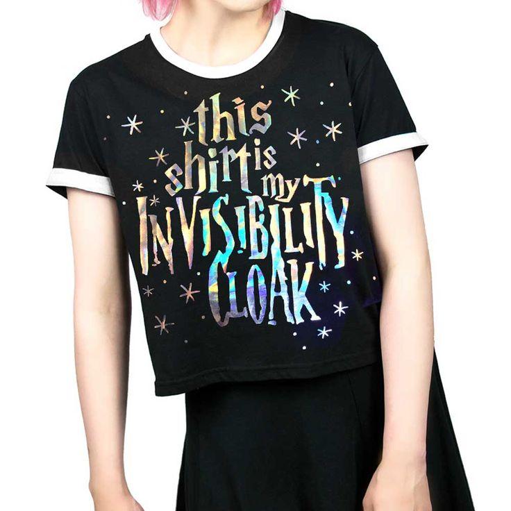 Cosmic Invisability Cloak Harry Potter korte dames T-shirt zwart   Att