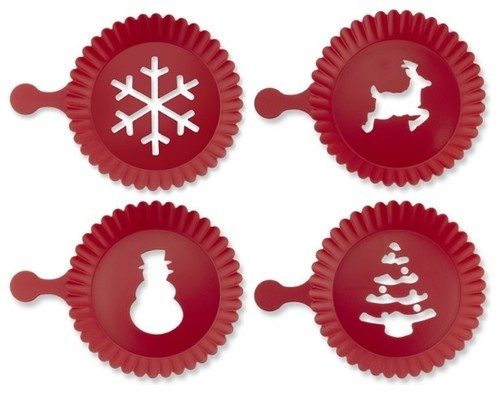 Holiday Cupcake Stencils contemporary holiday decorations