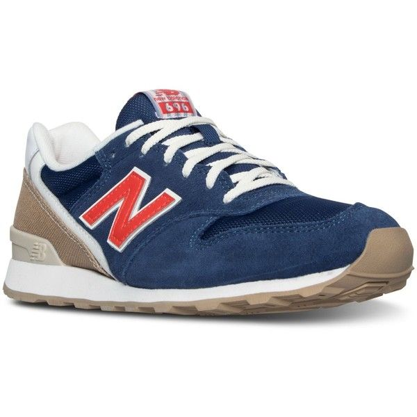 New Balance Women's 696 Lakeview Casual Sneakers from Finish Line ($70) ❤ liked on Polyvore featuring shoes, sneakers, vintage style shoes, new balance sneakers, new balance footwear, low shoes and low sneakers