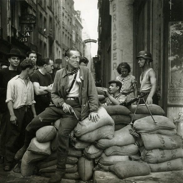 French Resistance fighters in Paris, August 1944.