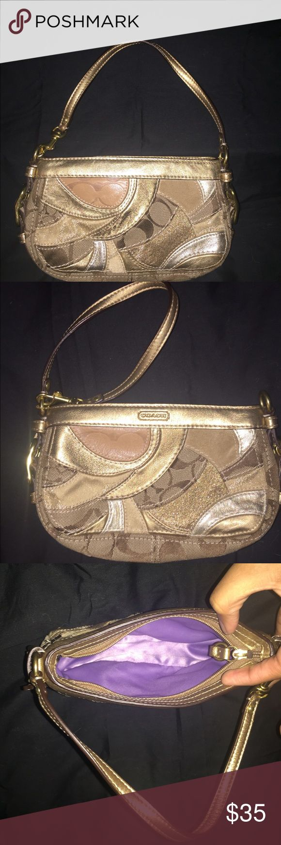 Coach Wristlet 8 inch Coach wristlet.. Can be used as a small purse, clutch, or wristlet. Coach Bags Clutches & Wristlets