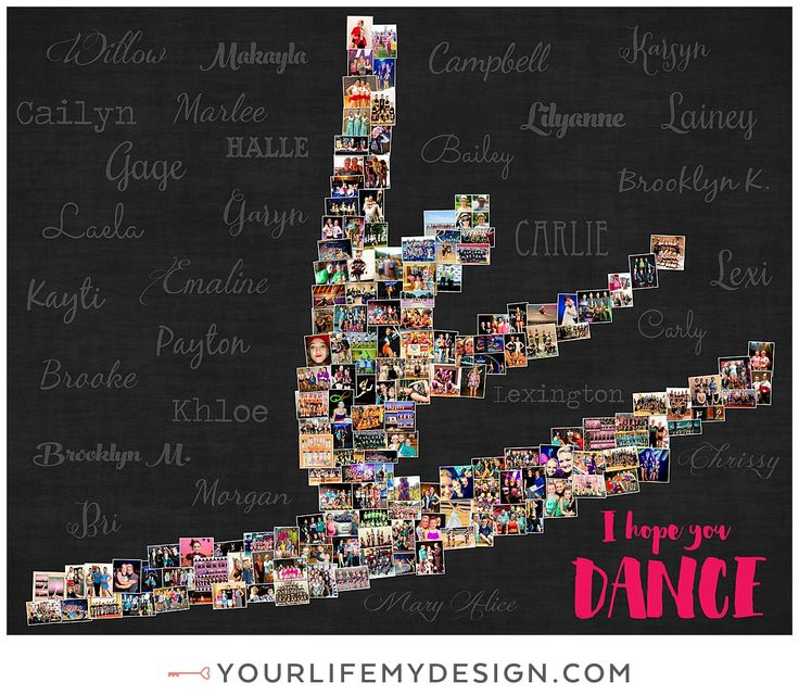 24x30 with 155 photos ❤ CollageDesign by http://yourlifemydesign.com/ #yourlifemydesign #photocollage #ballerina #dance #gift #giftideas #anniversary #homedecor #home #photography #collage #decor #decoration #walldecor