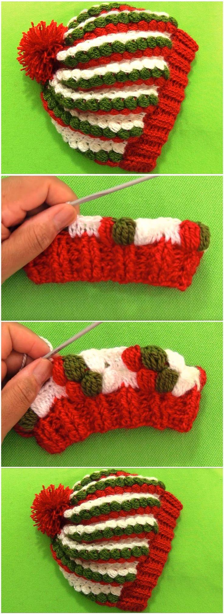 Christmas Beanie Hat Crochet Tutorials