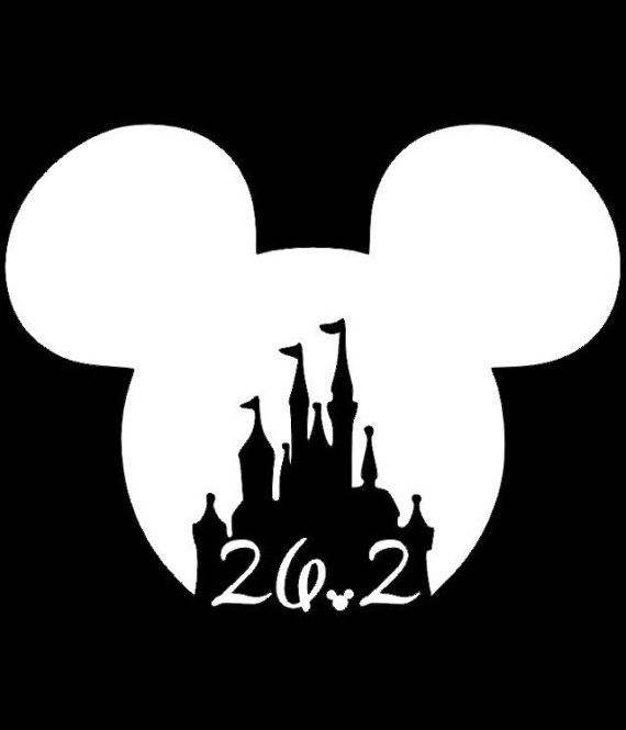 Disney marathon decal, run disney decal, half marathon decal, disney castle decal, running sticker, 13.1