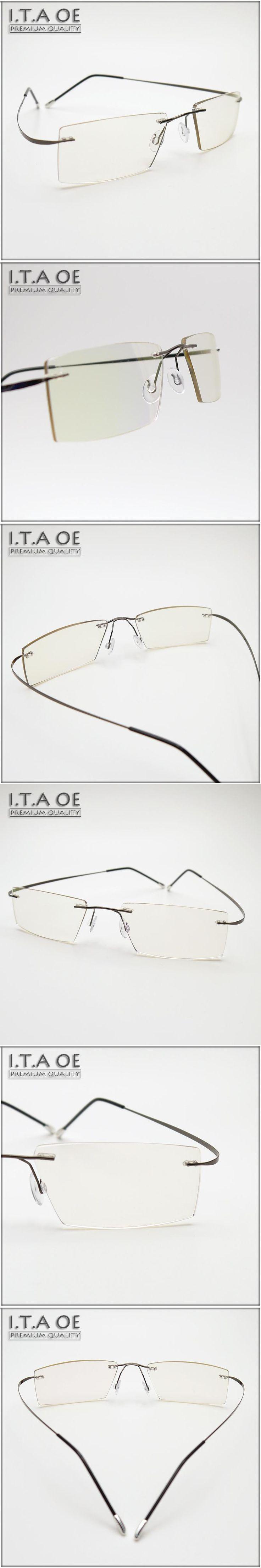 ITAOE Ivanov Rimless Style Business Only 10g Memory Alloy Men Women Myopia Reading Optical Eyewear Frames Glasses Spectacles