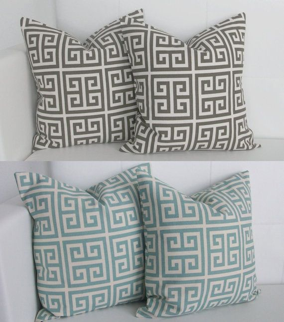 Greek Key Decorative Pillows Part - 32: Blue And White Greek Key Pillows | Four Greek Key Pillow Covers Decorative  Pillow By Skoopehome, $70.00 | Sophisticated Cottage | Pinterest | Greek Key