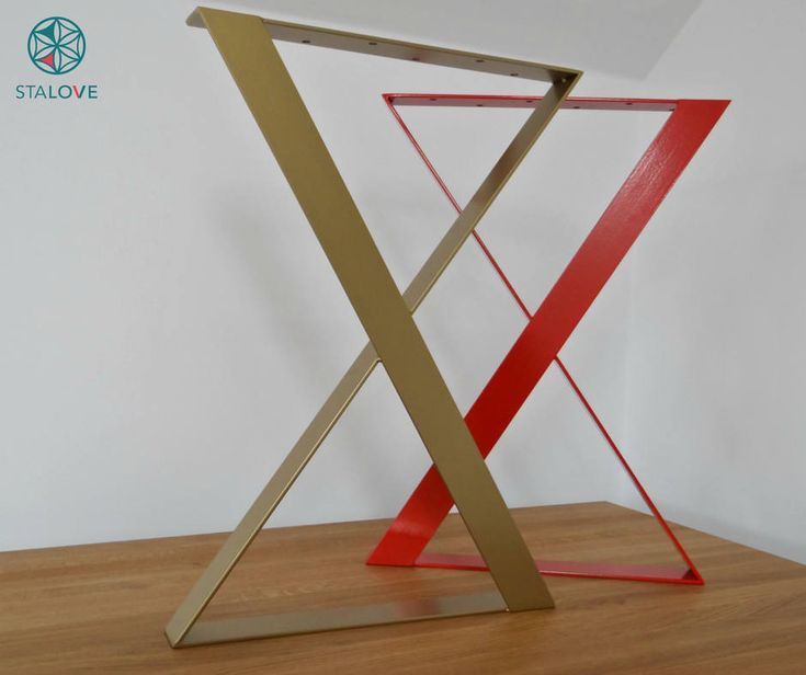 "Any color! 28""x20"" steel table base for dining table. Flat X-shape table legs. Office desk legs. Handmade by StaloveStudio by StaloveStudio on Etsy"