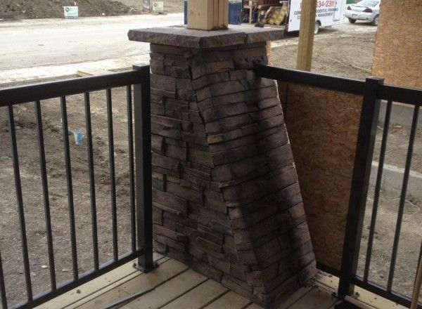 Frontier Ledge (Color: Almond Buff) for Palmer Homes