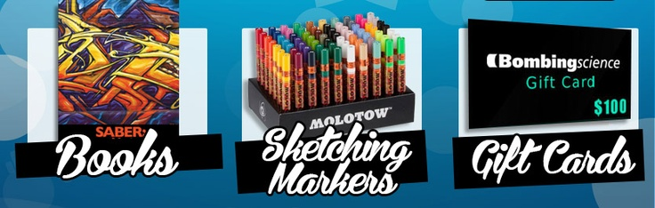 Bombing Science: Shop for Graffiti Supplies, Montana Paint, Spraypaint Caps, Graffiti Markers, DVD and more.