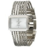 Anne Klein Women's 10-7209SVSV Diamond Accented Silver-Tone Bracelet Watch (Watch)By Anne Klein