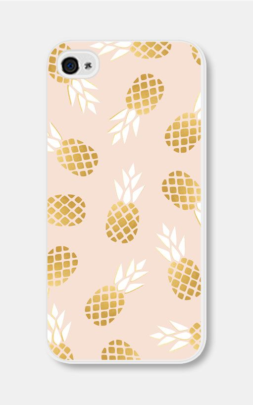 iPhone 5 Case iPhone 6 Case Pink and Gold Pineapple par fieldtrip