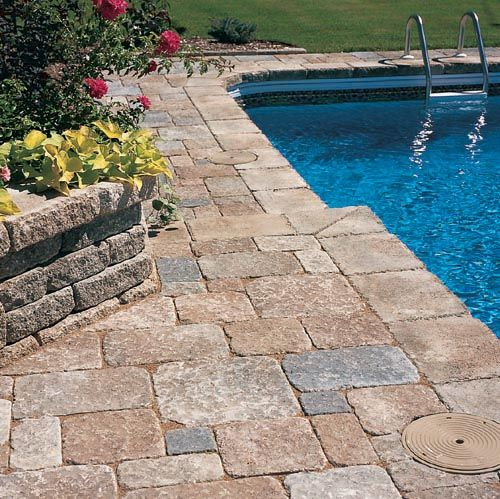 1000 images about pools on pinterest natural swimming for Pool paving ideas