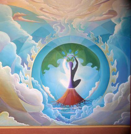 Mural at Raices y Brazos Yoga Center