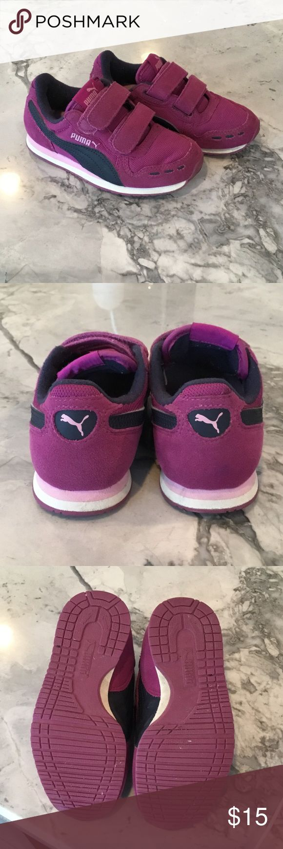 Toddler Girls Cabana Racer Toddler girls purple sneakers. Great used condition! See screenshot for further details directly from website. Puma Shoes Sneakers