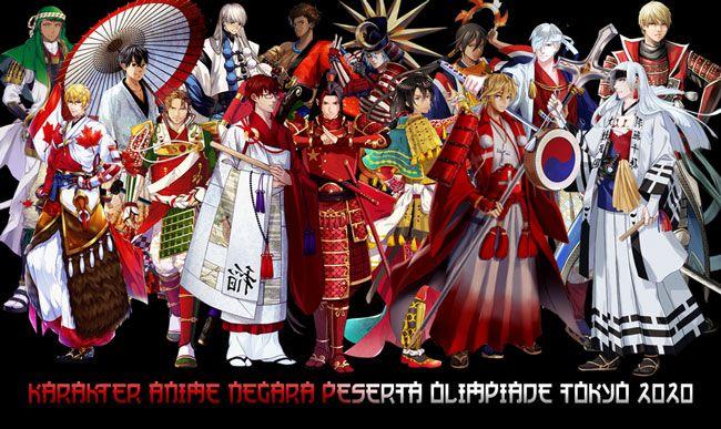 karakter anime negara peserta olimpiade 2020   Tokyo ...