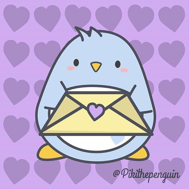 Piki love letter ..  #piki #pikithepenguin #loveletter #14febrero #love #penguinslover #penguins #kawaii #kawai #cute #picoftheday #instagood #pusheen #ryan #kakaofriends